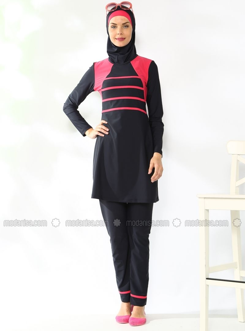 520d1ab7903 Fully Covered Swimsuit - Navy Blue - Adasea Abaya Fashion, Swimsuit Cover, Muslim  Women