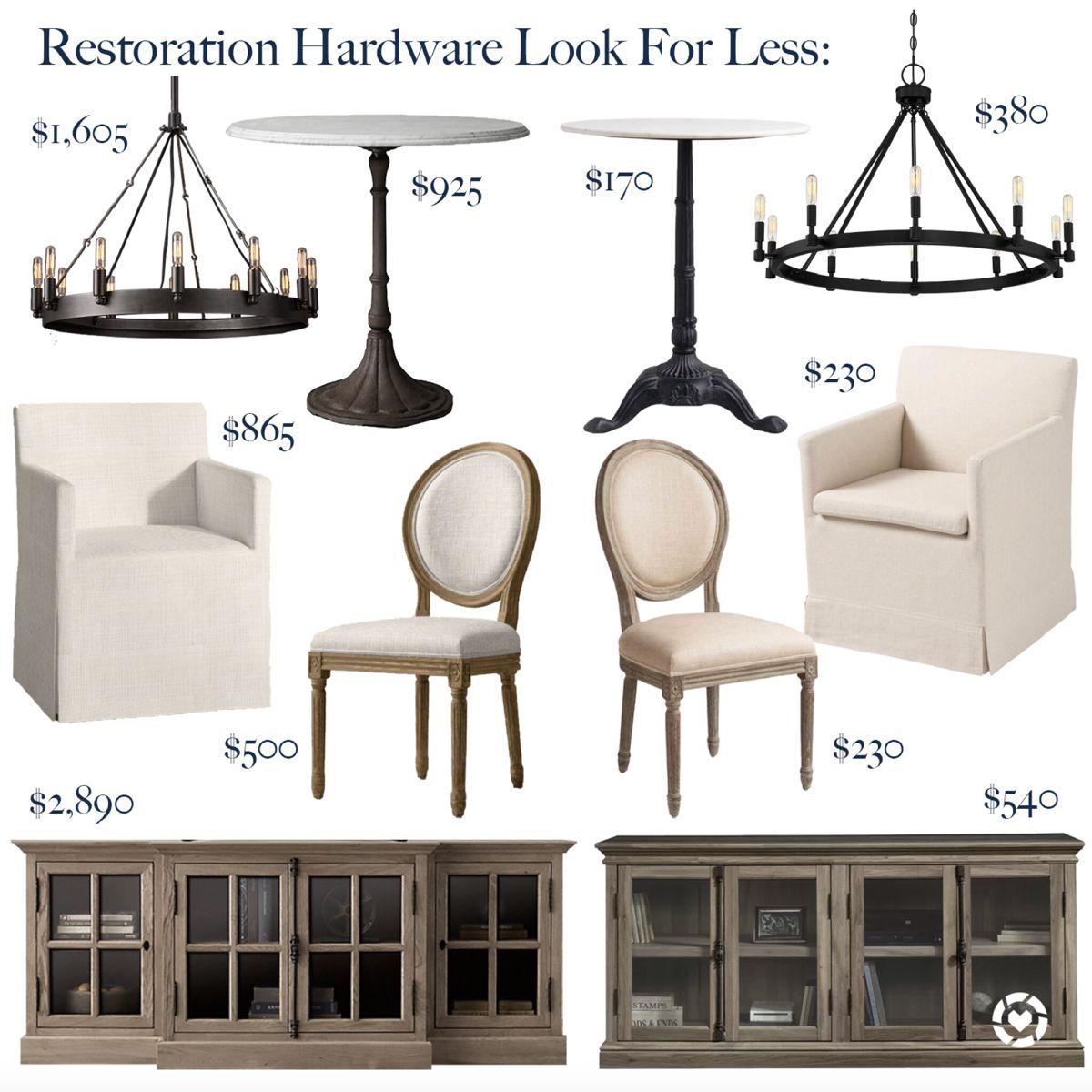 Restoration Hardware Dupes in 5  Restoration hardware dining