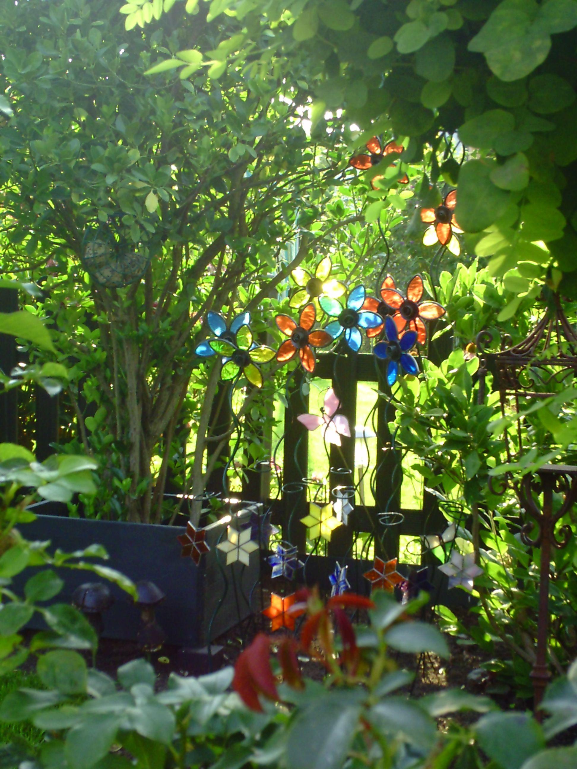 Glasblumen Blumen Garten Turkranze