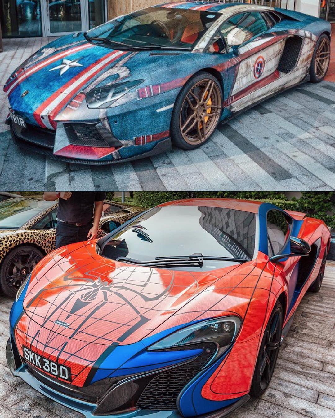 Captain America #Lamborghini Versus Spiderman #McLaren Who