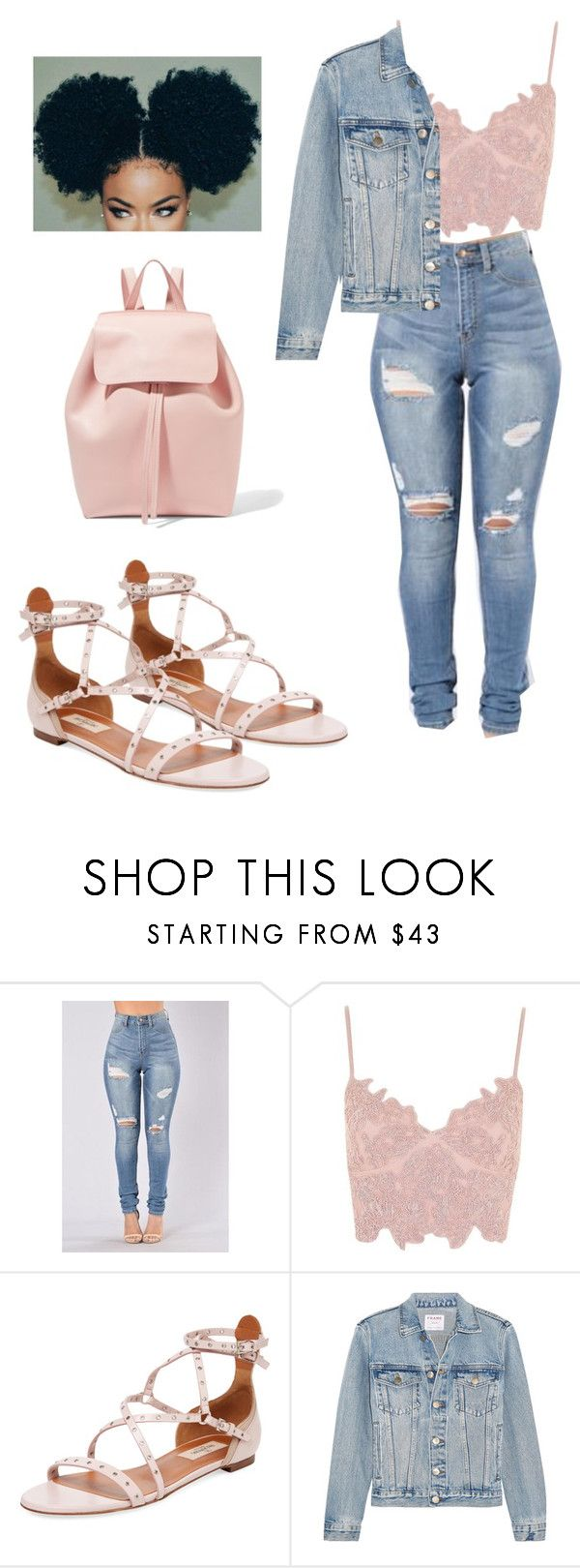 """""""Untitled #1228"""" by jwolley ❤ liked on Polyvore featuring Topshop, Valentino, Frame and Mansur Gavriel"""
