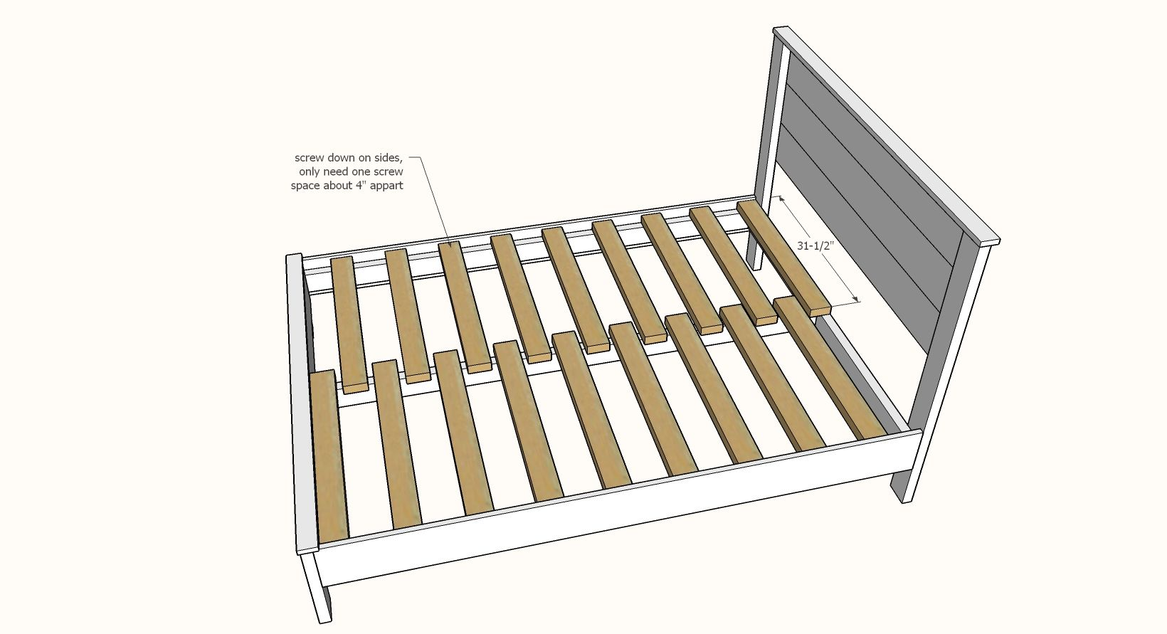 Simple Panel Bed All Mattress Sizes No Pocket Holes Wood Bed