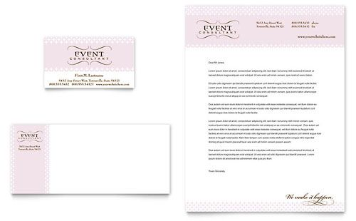 Wedding Event Planning Business Card Letterhead Template Design Stocklay Event Planning Brochure Event Planning Business Cards Event Planning Spreadsheet