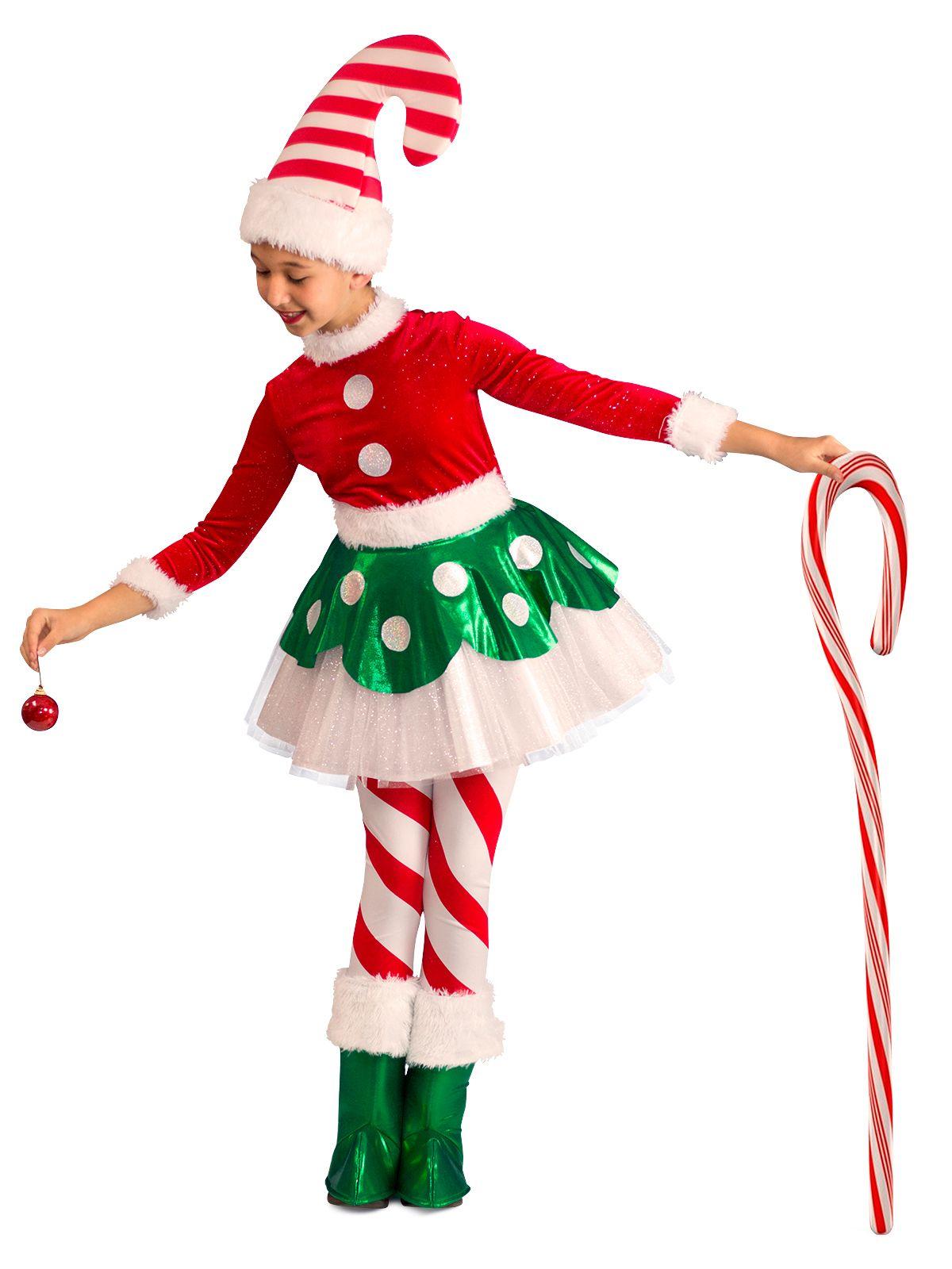 Girls Candy Cane Elf Princess Costume Elf costume