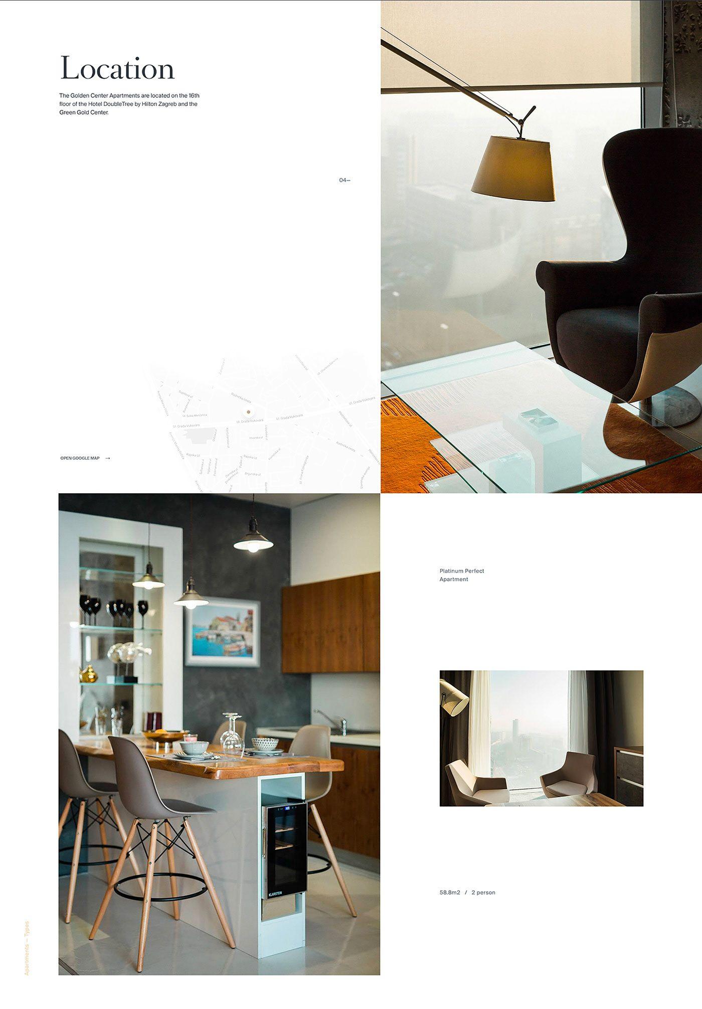 Golden Center Apartments Web Branding On Behance Luxury Apartments Apartment Apartments For Rent