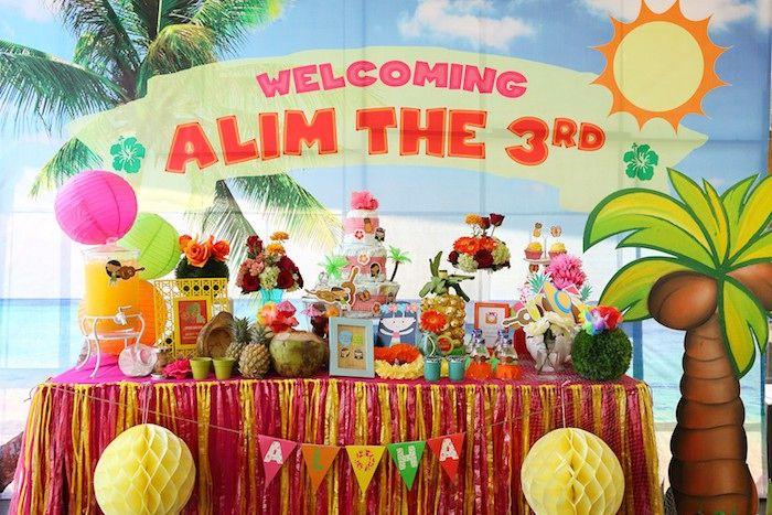 hawaiian luau baby shower via karau0027s party ideas cake decor supplies