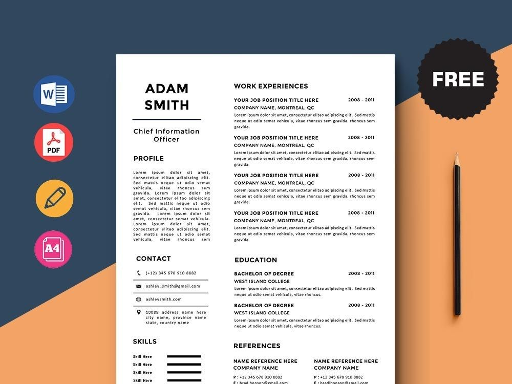 Free chief information officer cio resume template in