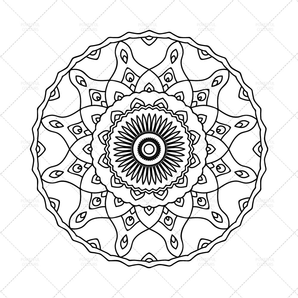 Mandala coloring page n instant download printable pdf mandala