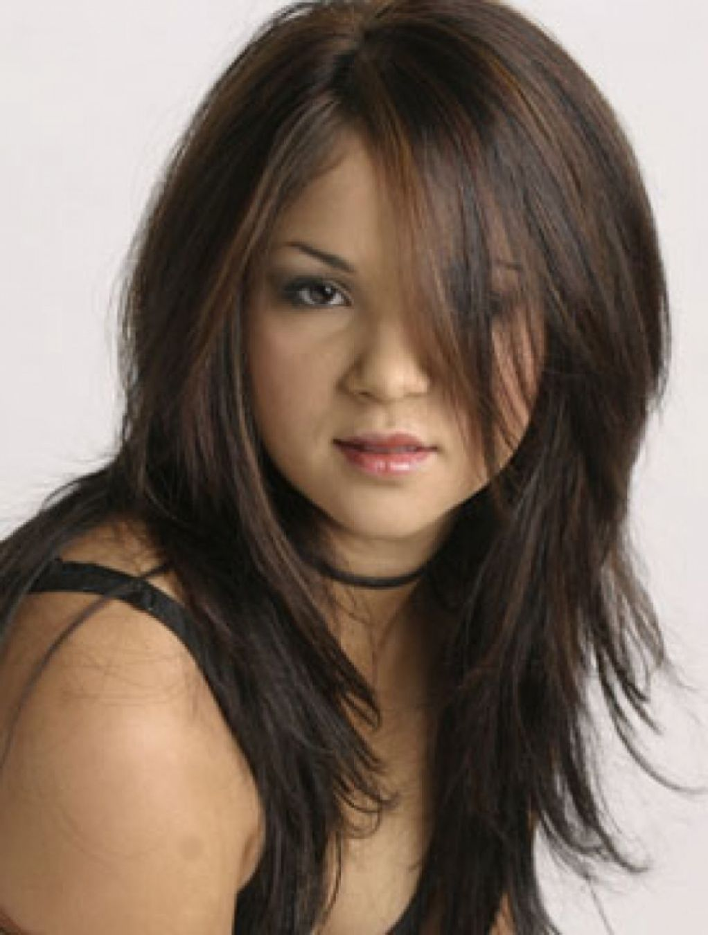 Straight Hair Round Face Straight Hair Long Layered Hairstyles 16