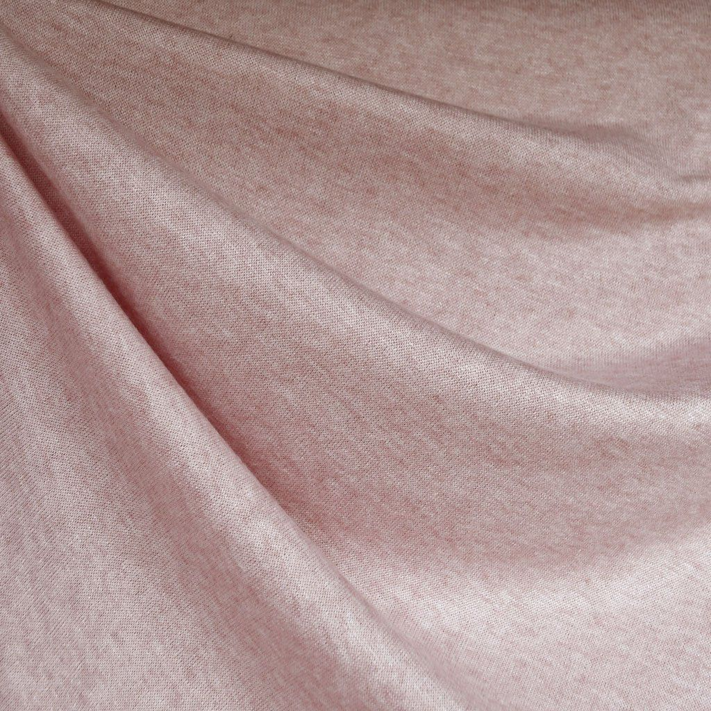 Soft brushed sweater knit heather pink fabric style maker