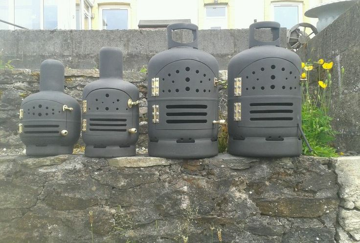 Antique Tan Gas Stove Pot Belly Heater Make Bottles