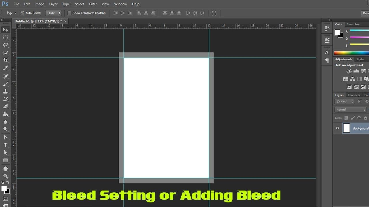 How to use bleed or adding bleed in adobe