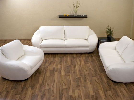 Canape Cuir Boo 3 Places 2 Places 1 Fauteuil Blanc 25930