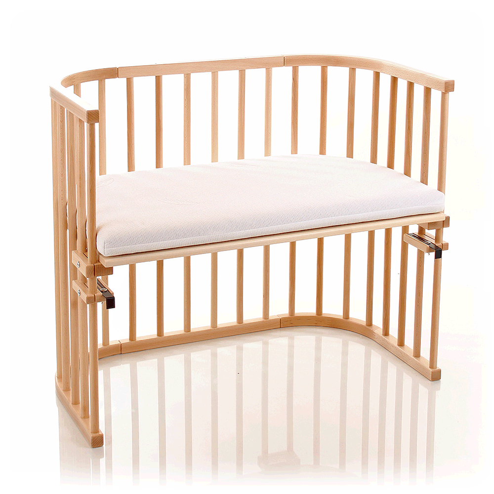 Babybay Maxi With Foam Mattress Side Rail Beech Mini Berco Berco Mini