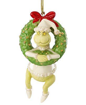 LENOX GRINCH/'S DEVIOUS DILEMMA Ornament NEW in BOX Disney