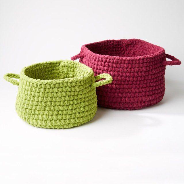 Estas cestas ganchillo hecho a mano son el regalo perfecto - o papel ...
