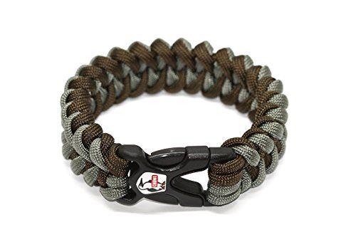 Chums Rainier Paracord Survival Bracelet Brown Gray Want