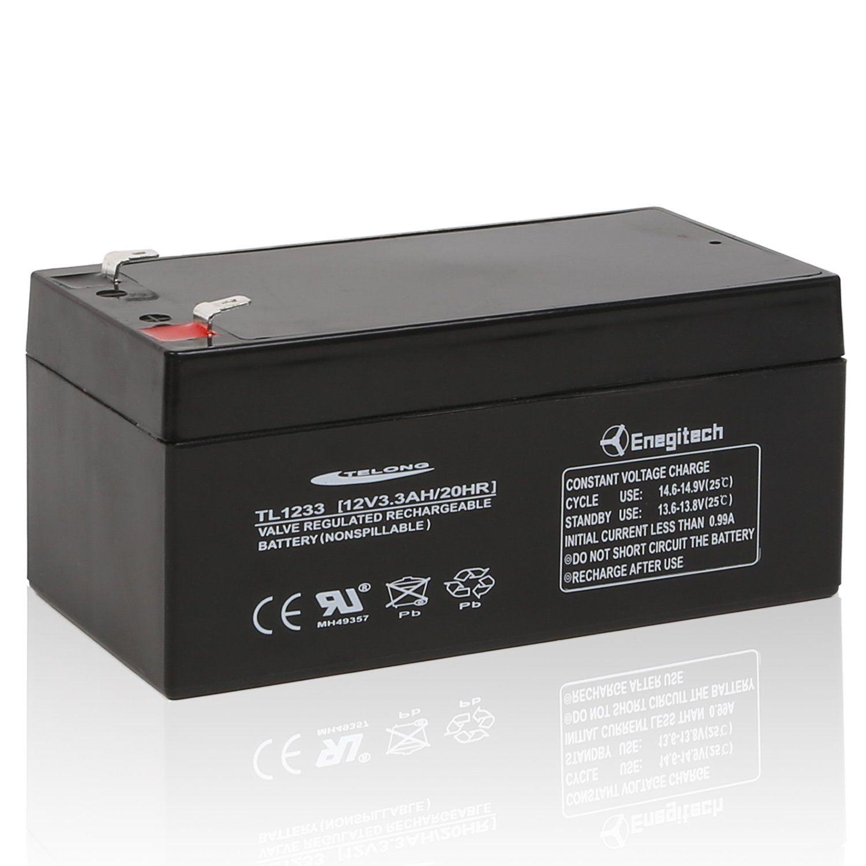 Batteriol 12v 3 3ah Rechargeable Sealed Lead Acid Battery For Toro Lawn Mower 106 8397 Replace Rbc35 Wp3 12 Bp3 6 Cf12v2 Cfm12v3 Cp1232 Apc
