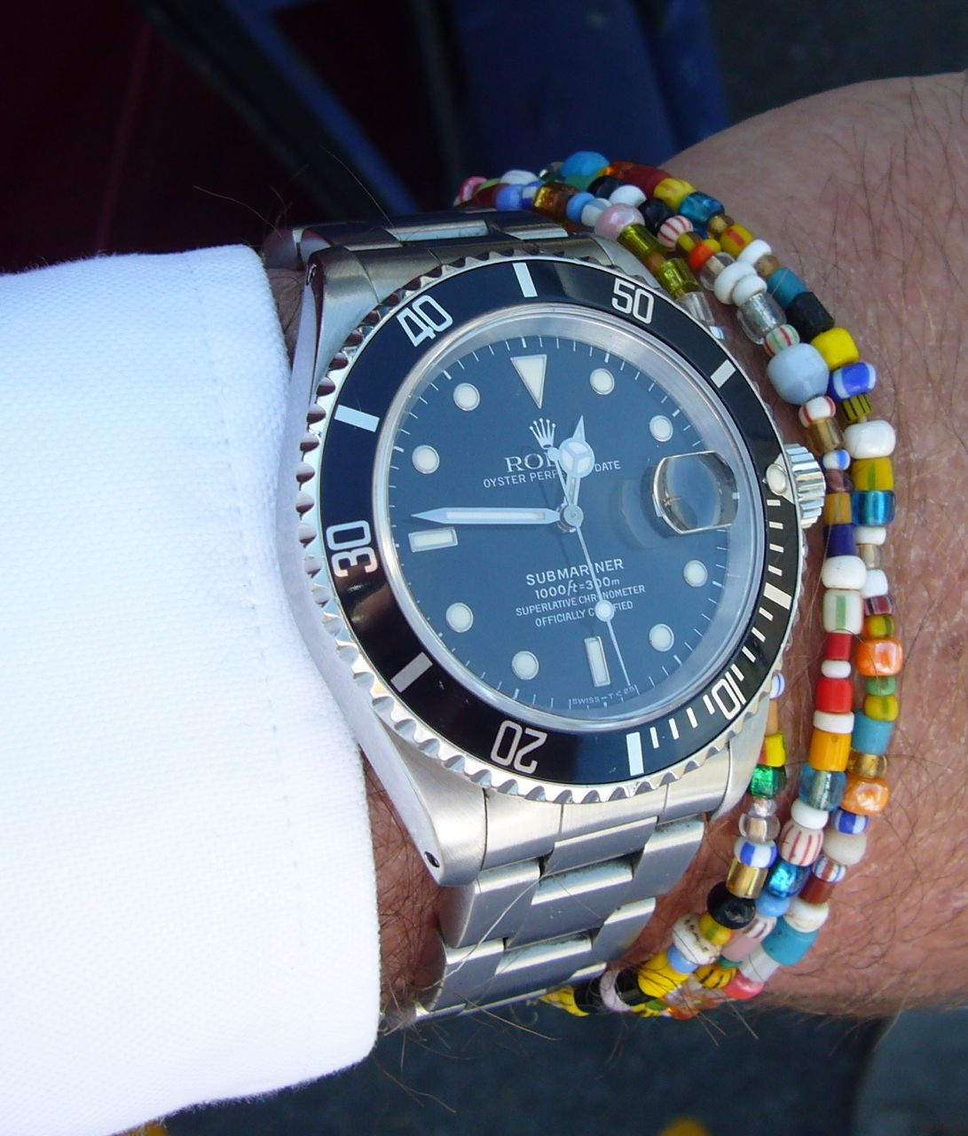 Rolex submariner beaded bracelet i 39 m seeing a lot of this look style pinterest rolex for Submarine watches