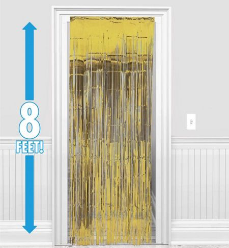 Gold Doorway Curtain 8ft Party City makes confetti Valentine
