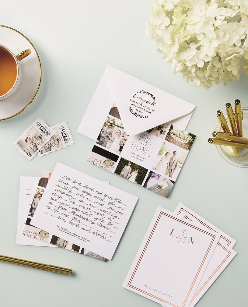 bridal shower thank you cards etiquette%0A Wedding Thank You Notes from Wedding Paper Divas  stationery suite   invitations