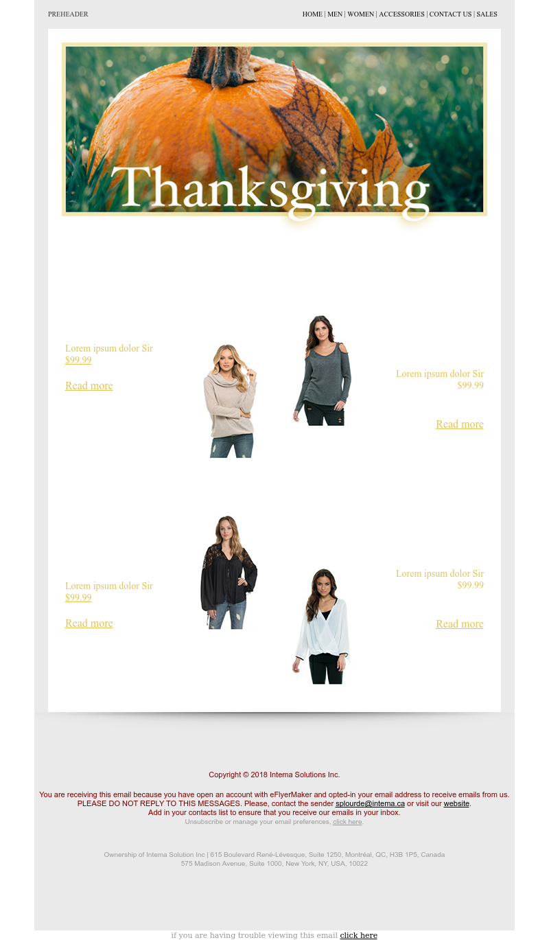 ThanksGiving 1 - Email Template Business flyer Maker #Promotion ...
