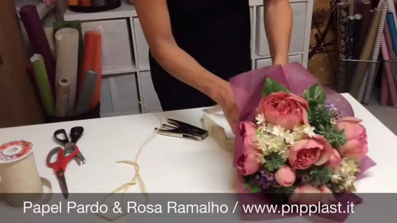 Gift wrapping - Wrapping a bouquet #wrapflowers | bouquet wrapping ...