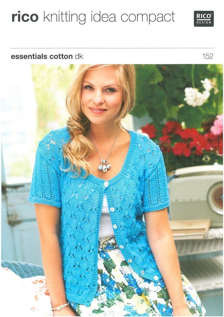 Ladies Lace Cardigans in Rico Essentials Cotton Dk (152) - Rico ...