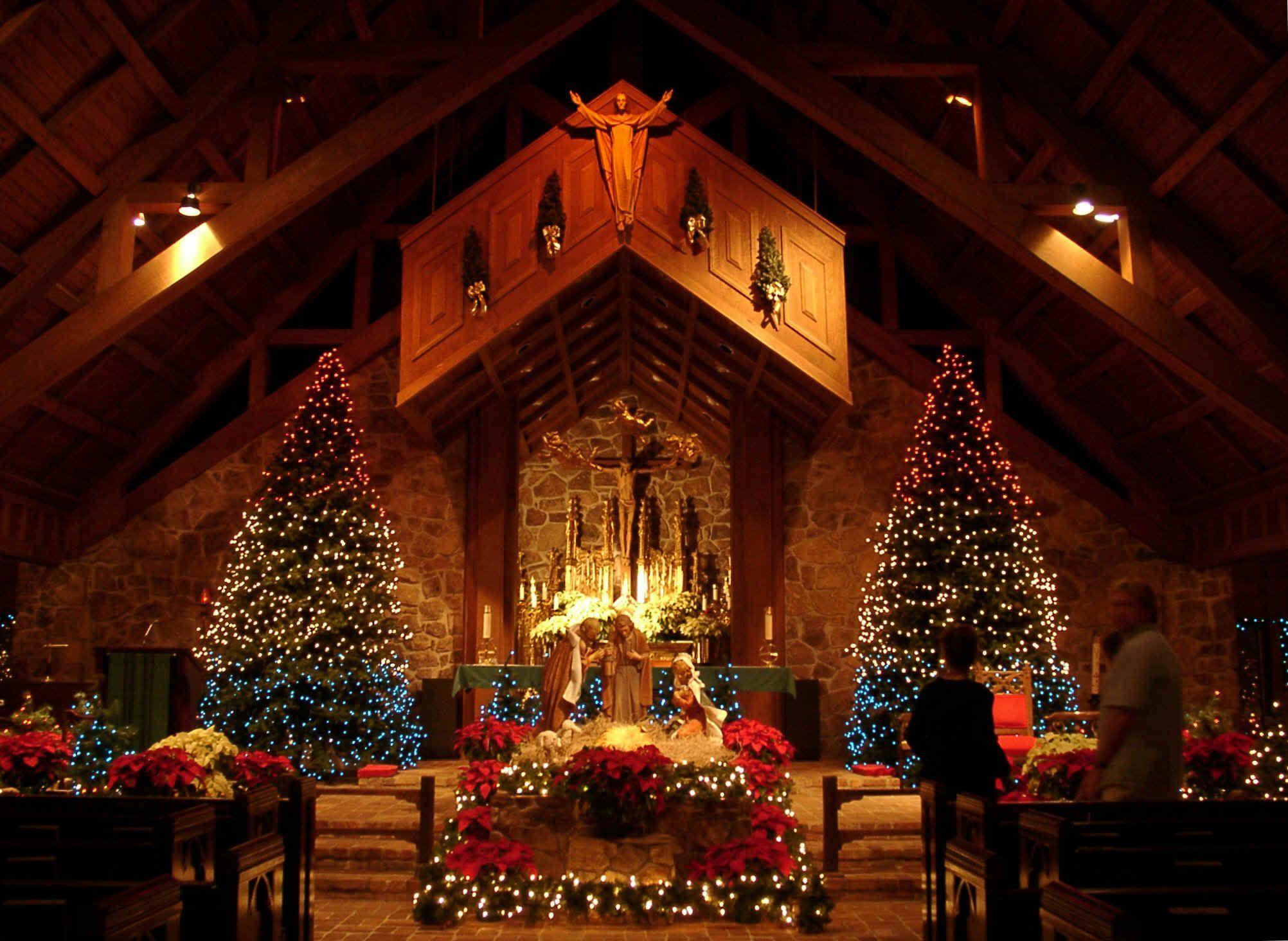 christmas at church | Church Scenes at Christmas ...