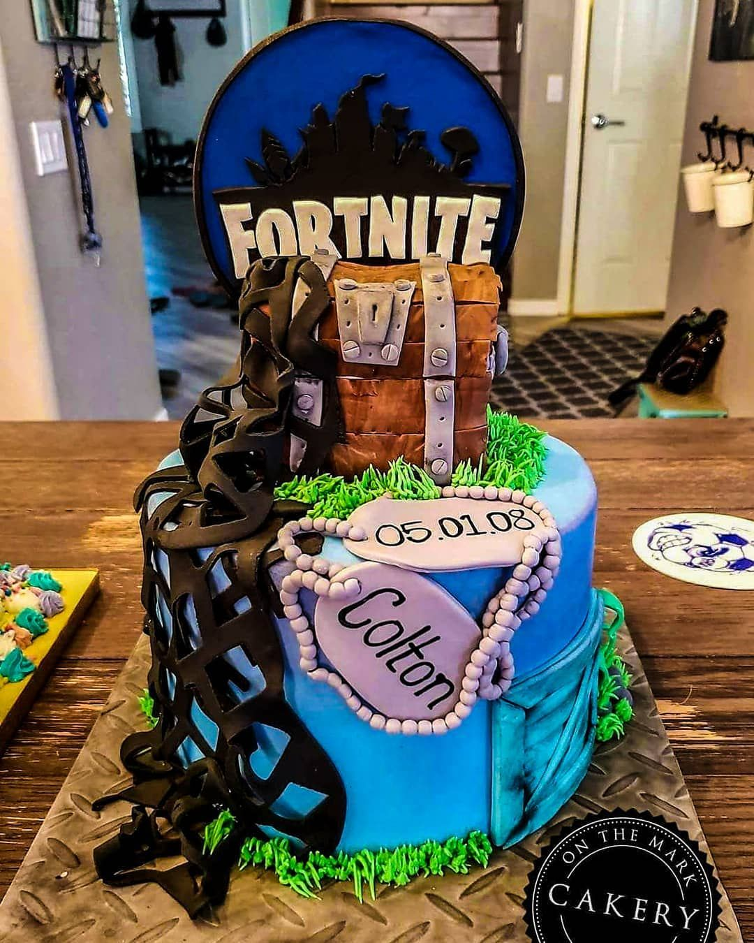 Swell Fortnite Inspired Birthday Cake Perfect For Your Gamer Any Age Funny Birthday Cards Online Inifodamsfinfo