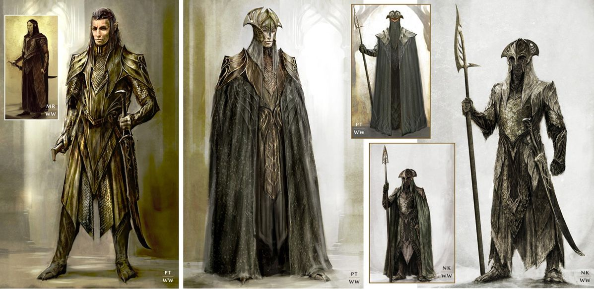Concept art of the Mirkwood guards