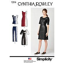 Buy Simplicity Cynthia Rowley Women's Outfits Sewing Patterns, 1314 Online at johnlewis.com