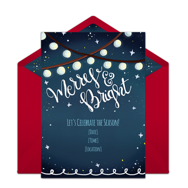 Free Merry Bright Invitations – Free Christmas Party Invitation