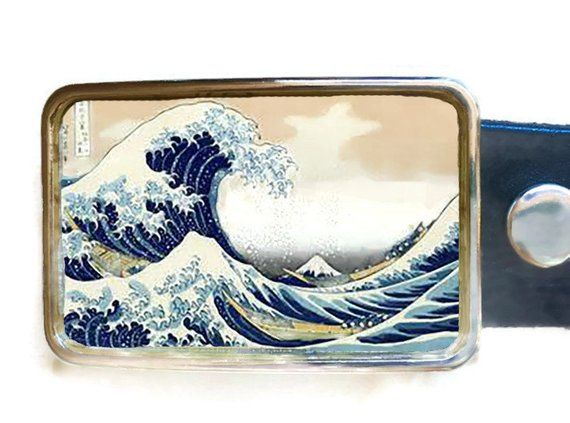 Belt Buckle Off Kanagawa Anese Art