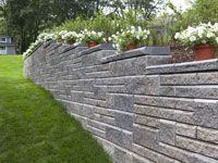 Retaining Walls Allan Block Wall Systems Sloped Garden