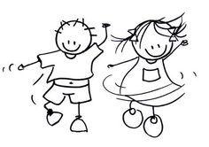 Afbeeldingsresultaat voor dansen tekening
