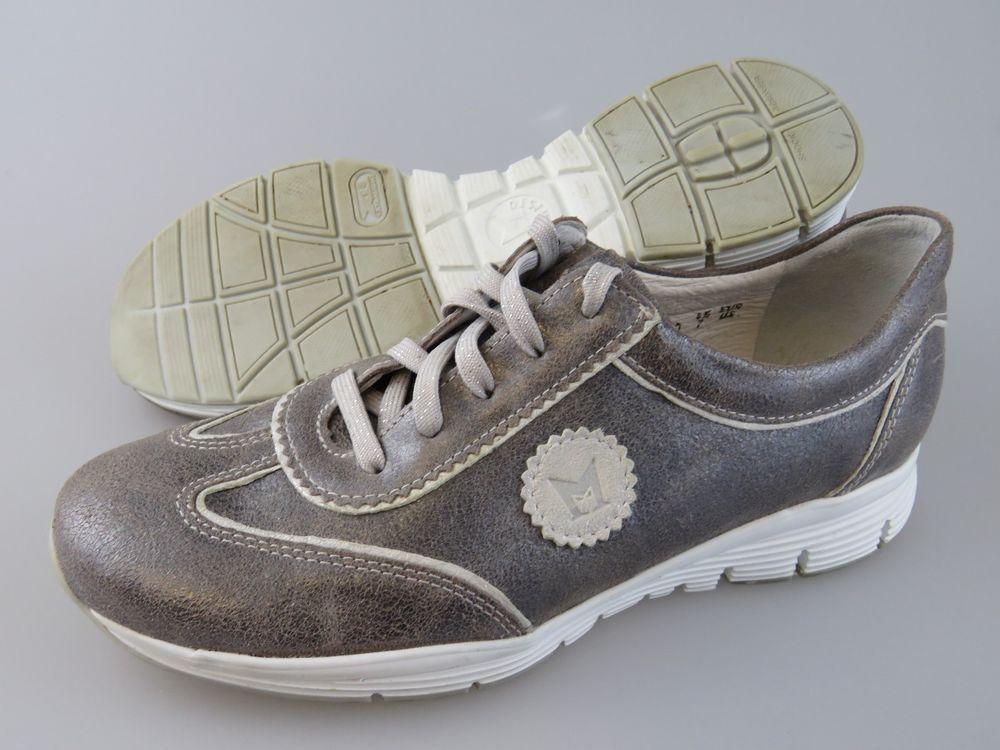 846fd6eb3b4 MEPHISTO Runoff Air Jet System Metallic Silver Leather Shoes Women's US 7 # Mephisto #Comfort