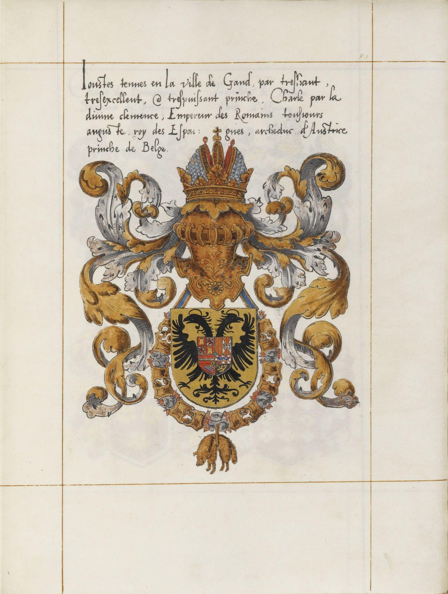ARMORIAL DES TOURNOIS. -- JOUSTE FAICTE A TOURNAY L'AN MIL TROIS CENT TRENTE. FAC-SIMILÉ D'APRÈS UN MSS. PAR VICTOR BOUTON PEINTRE HÉRALDIQUE ET PALÉOGRAPHE. PARIS, L'AUTEUR, 1870. -- NOM, SURNOMS ET ARMES DES NOBLES ROIS DE L'ÉPINETTE PRÉCÉDÉS DE L'ORDONNANCE DE 1429 ET DES LETTRES PATENTES DONNÉES À BRUXELLES EN 1516. PARIS, L'AUTEUR, 1870-1871. -- CONFRAIRIE [SIC] DES PARTISANS DE PHILLIPE LE BON, DUC DE BOURGOGNE, 1421. BRUXELLES, L'EDITEUR, 1872.
