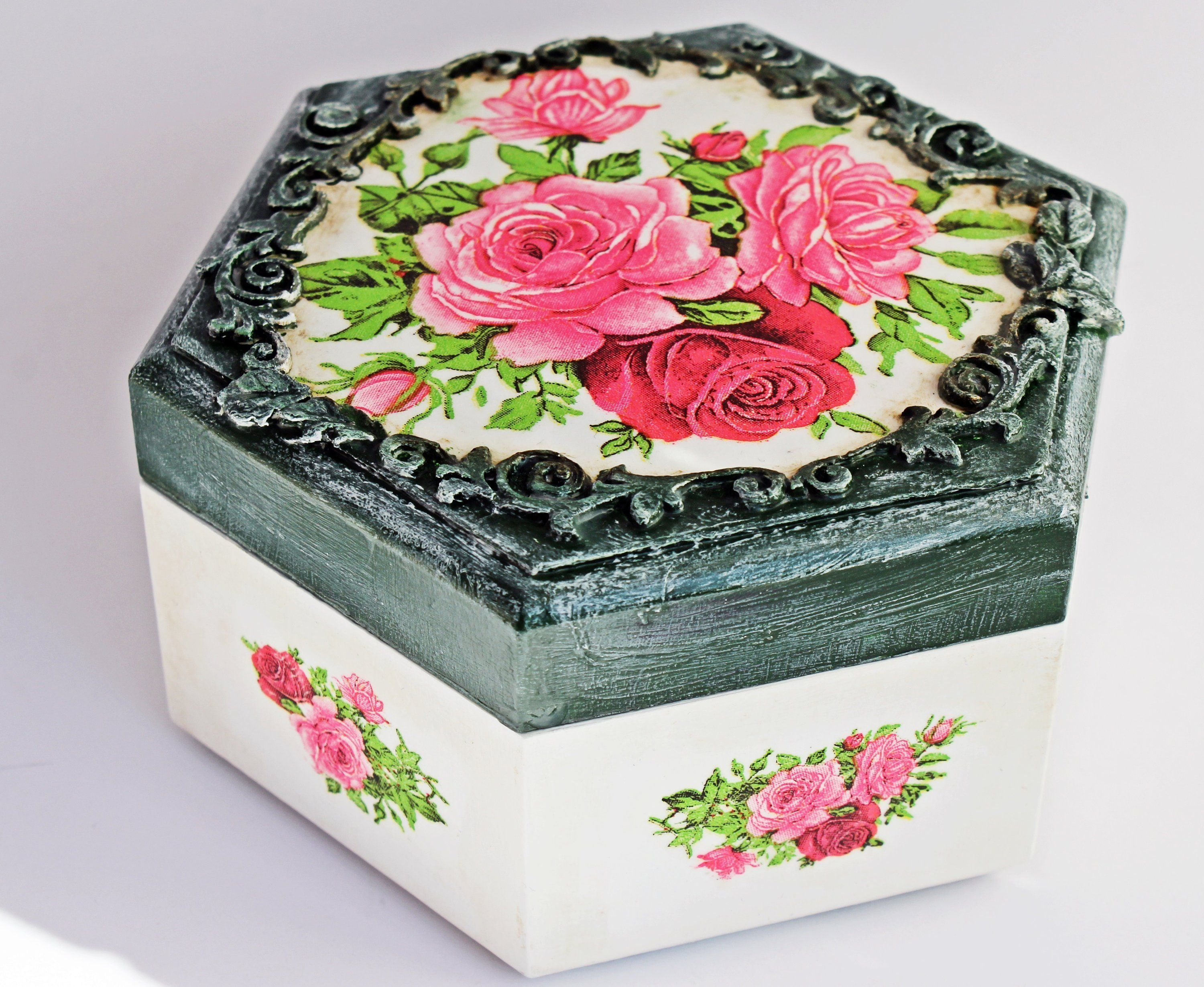Women Gift Box Roses Little Girl Jewelry Box Flowers