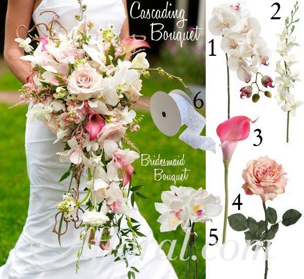 Cascade Bouquet Silk Wedding Flower: Pin By Anna Ardolino On Wedding Bouquets