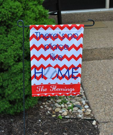 Another great find on #zulily! 'No Place Like Home' Baseball Personalized Garden Flag #zulilyfinds