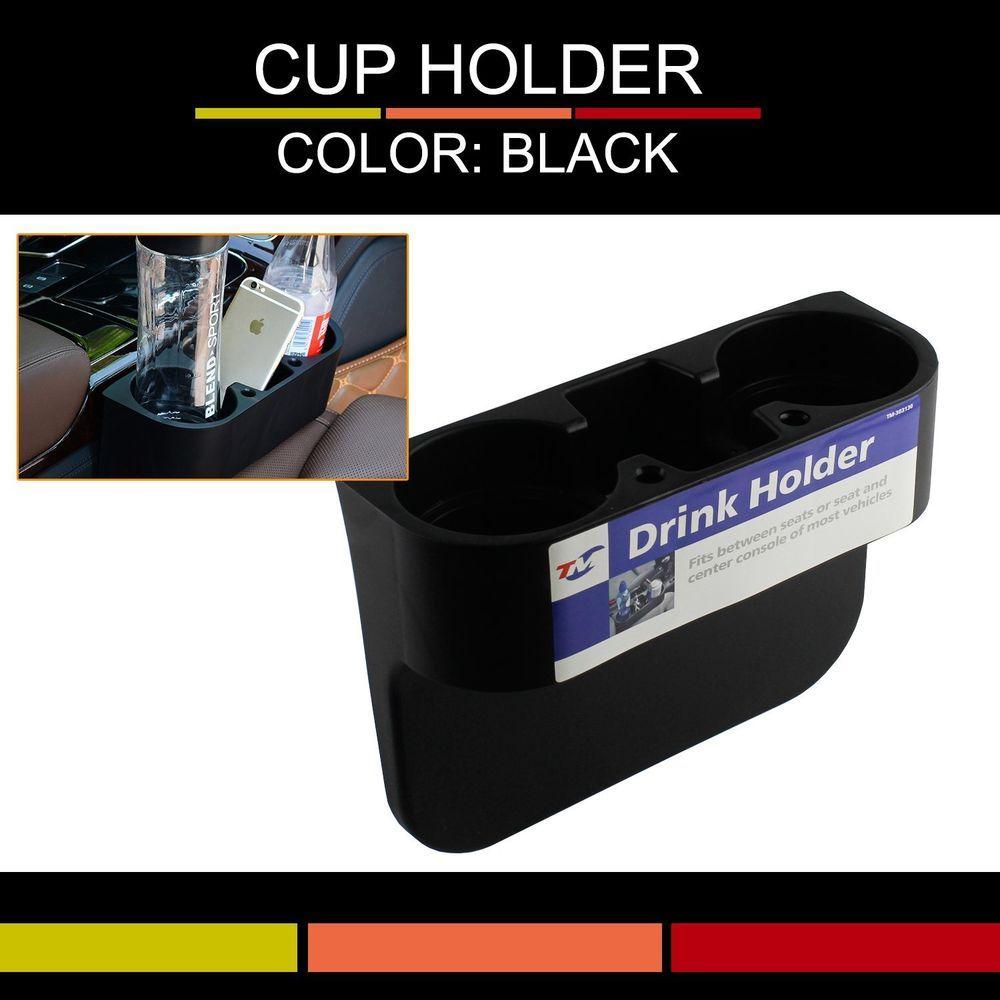 Black Car Seat Wedge Drink Cup Holders Food Bottle Mount Stand Storage Organizer