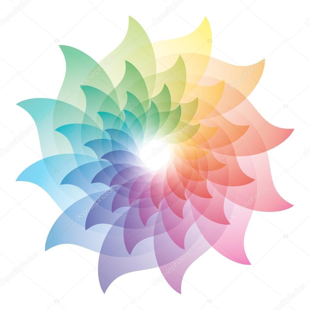 Beautiful Lotus Flower Color Wheel Icon Stock Illustration 127158894