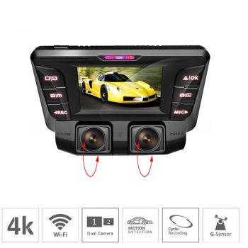 Car Camera Recorder 1080P Full with 2.45 IPS Screen and Sony Senor G-sensor Supreme Night Vision with Front and Rear Camera for Cars Car Camera Recorder 1080P Full with 2.45 IPS Screen and Sony Senor Vikcam Dual Dash Cam 170 Wide Angle Lens Car DVR