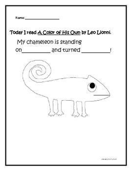 A Color Of His Own Leo Lionni Kindergarten Writing Toddler Books