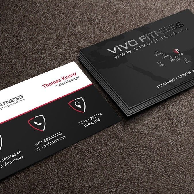 Business card design for dubai based fitness supplier by picasso business card design for dubai based fitness supplier by picasso reheart Image collections