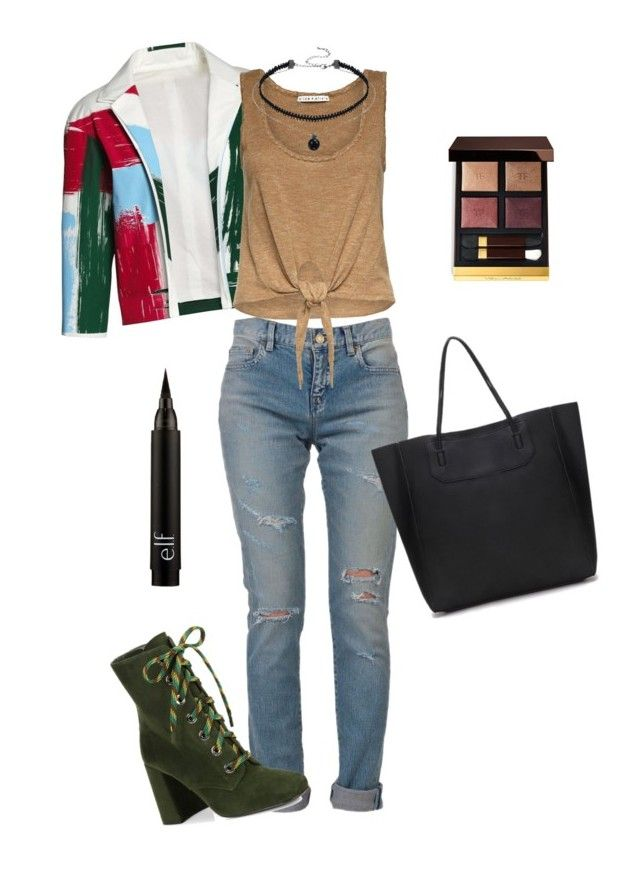 """Untitled #134"" by thesilverloutos on Polyvore featuring Yves Saint Laurent, Canvas by Lands' End, Alice + Olivia, Prada and Tom Ford"