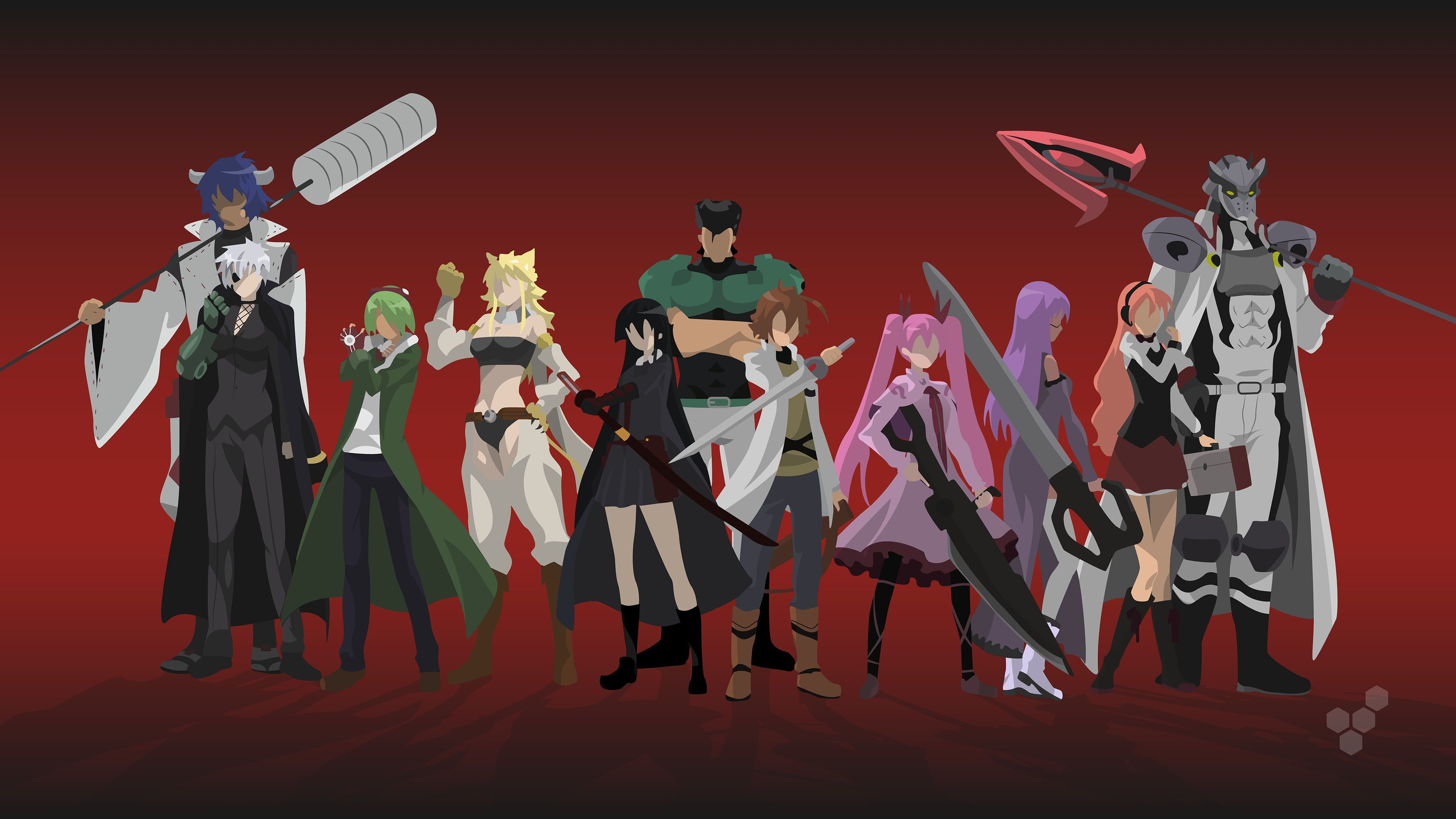Anime Wallpaper Akame Ga Kill Minimalism Akame Leone Lubbock