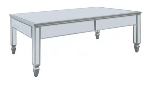 Liza Mirrored Coffee Table Ml 8307f Shine Mirrors Australia