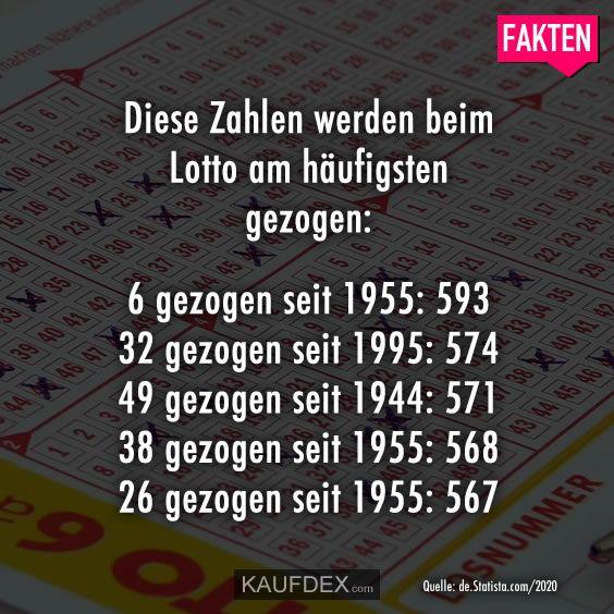 Diese Zahlen Werden Beim Lotto Am Haufigsten Gezogen Fakten